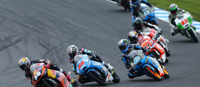 Luis Salom works hard for Phillip Island podium
