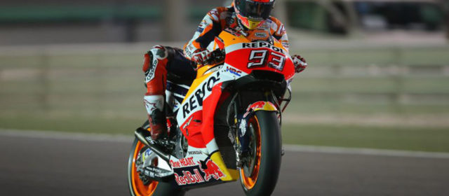 Front row start for Marc Marquez in Qatar with Dani Pedrosa seventh fastest