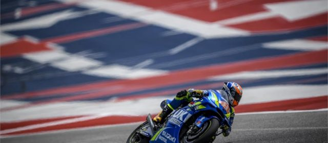 Alex Rins shows strong pace in Texas