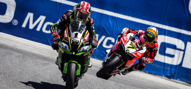 #USWorldSBK – Day 2: Rea roars ahead to seventh win in 2018 at Laguna Seca
