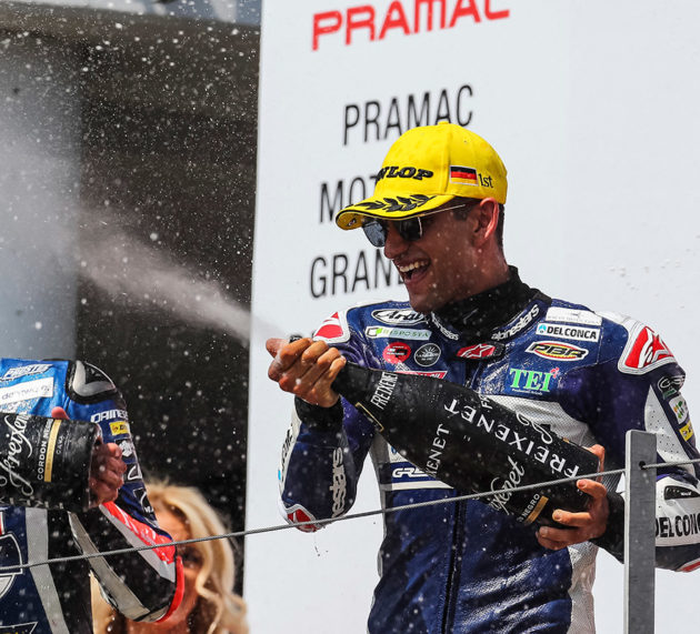 Victory at the Sachsenring for Jorge Martin